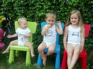 My grandkids and the joy of my life: Eden, Rowan, and Eden.