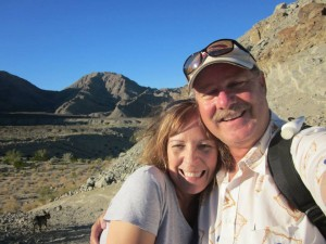A recent picture of me and hubby hiking in the La Quinta's beautiful Santa Rosa Mountains.