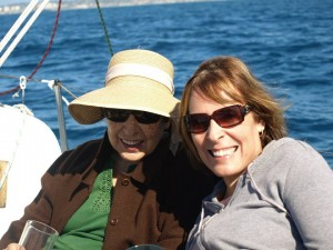 Me and my Mom, recently diagnosed with Lewy body dementia on our sailboat.