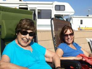 Mom and I at the beach last summer before her symptoms began to worsen.