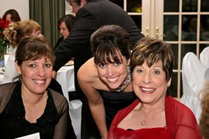 Me, my sister, and Mom at her 50th anniversary party.