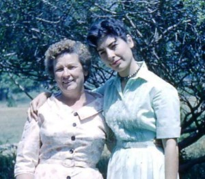 My Mom (right) with her own mother.