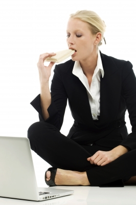 Working Woman Eating