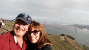 My husband, Scott, and I on a recent trip to San Francisco.