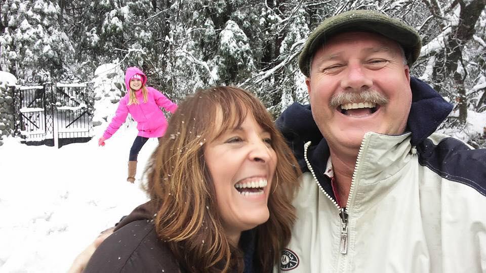 snow photo bomb