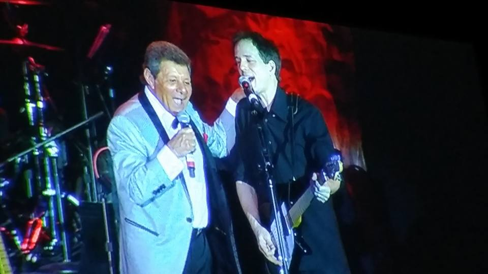 Frankie Avalon singing a duet with one of the Everly Brother's sons.
